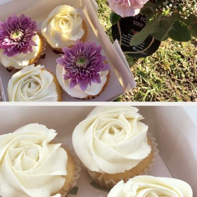 Vanilla Bean Cupcakes ~ 4 Pack - Fresh Flowers Bouquet Online Maitland - RosyPosyCo